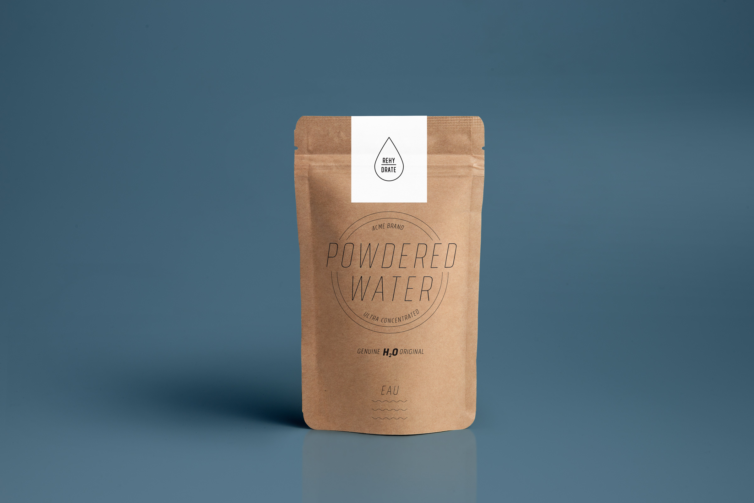 Powdered Water Packaging