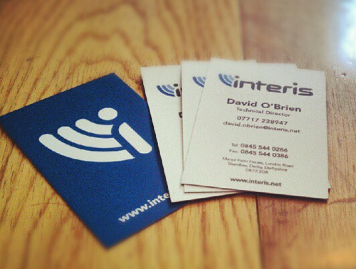 Interis Business Card