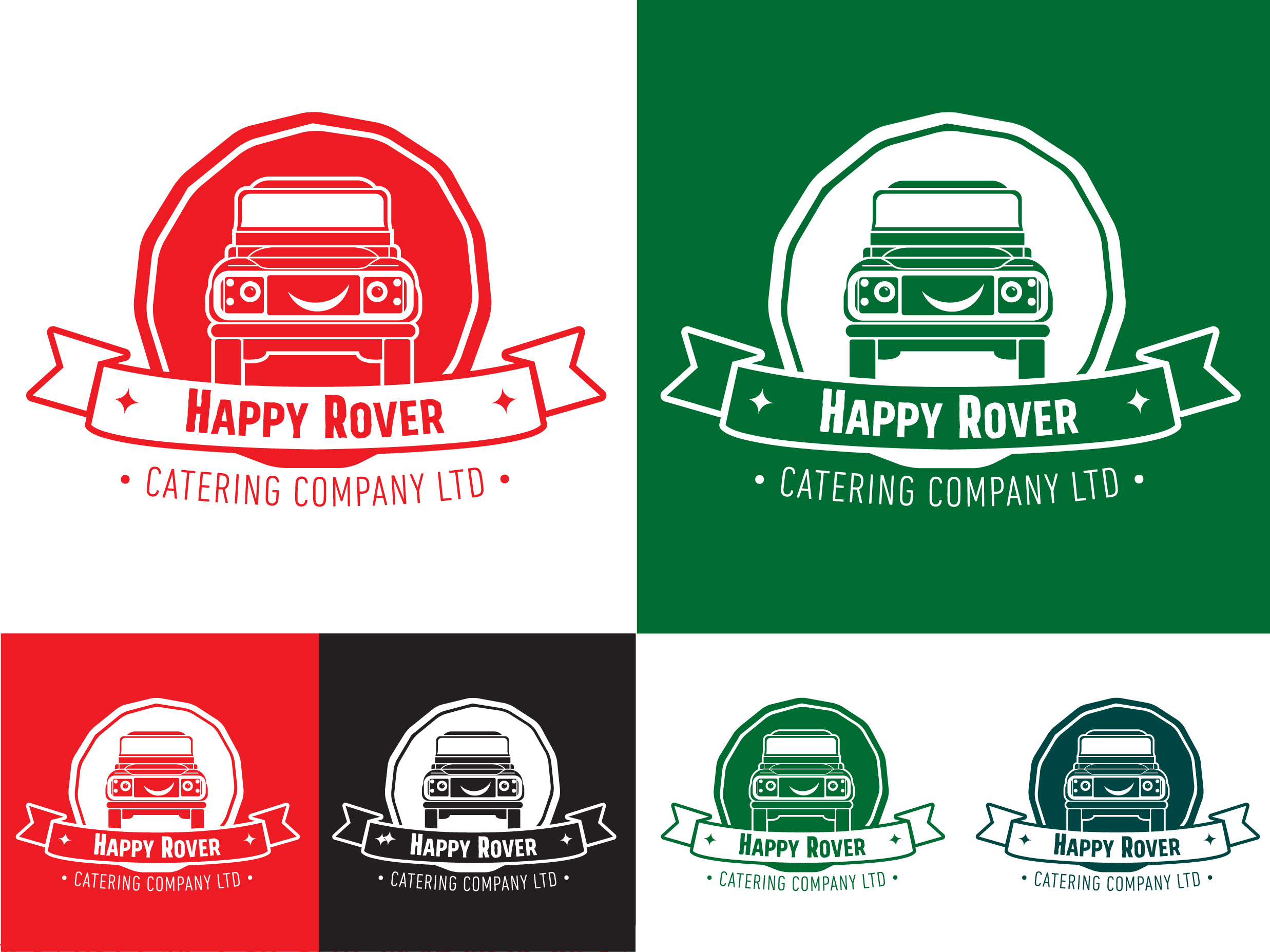 Happy Rover Pizza Logo Alternatives