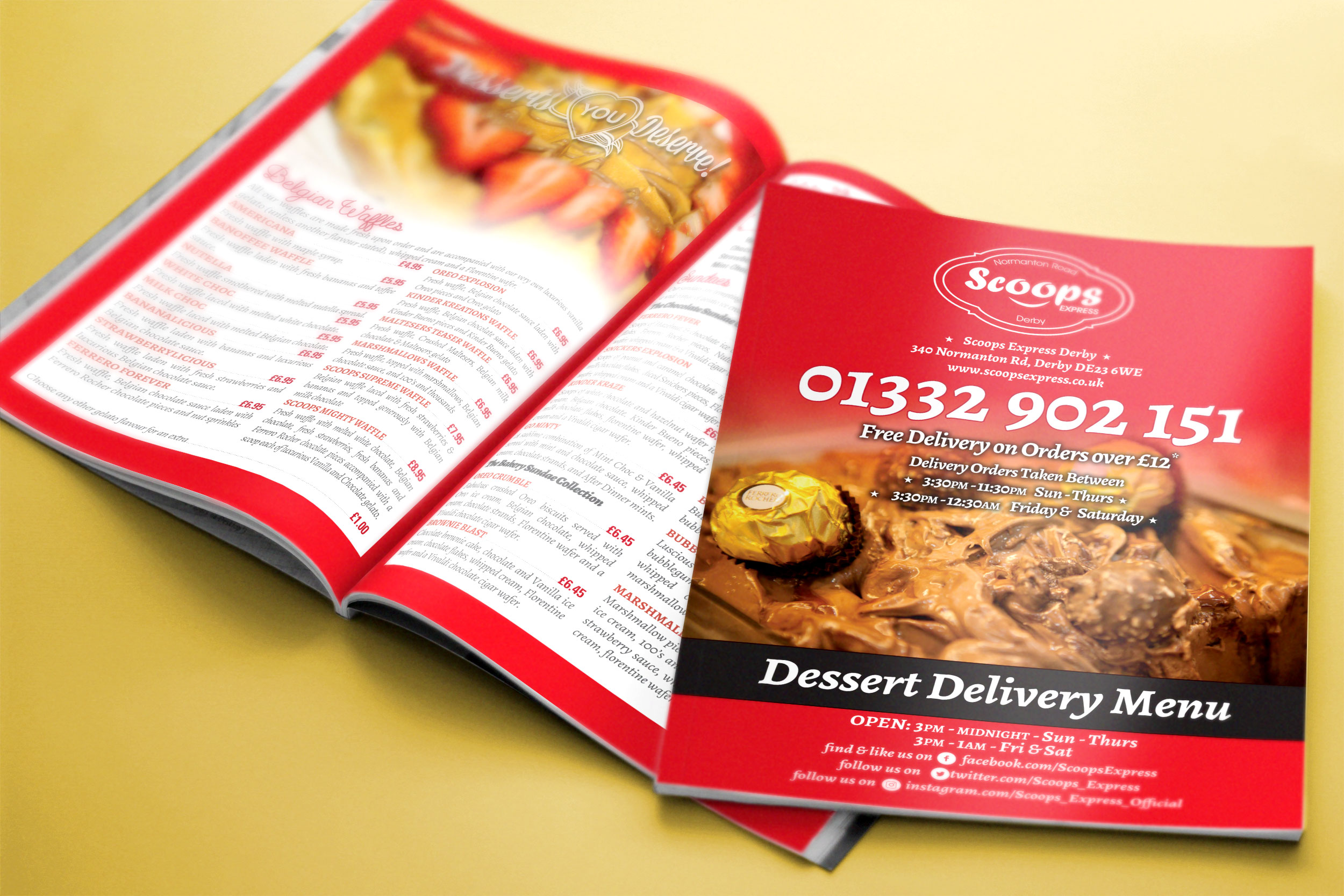 Premium Takeaway Menu Design