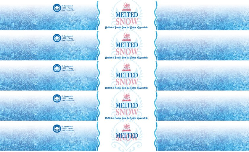 Frozen Drink Bottle Labels