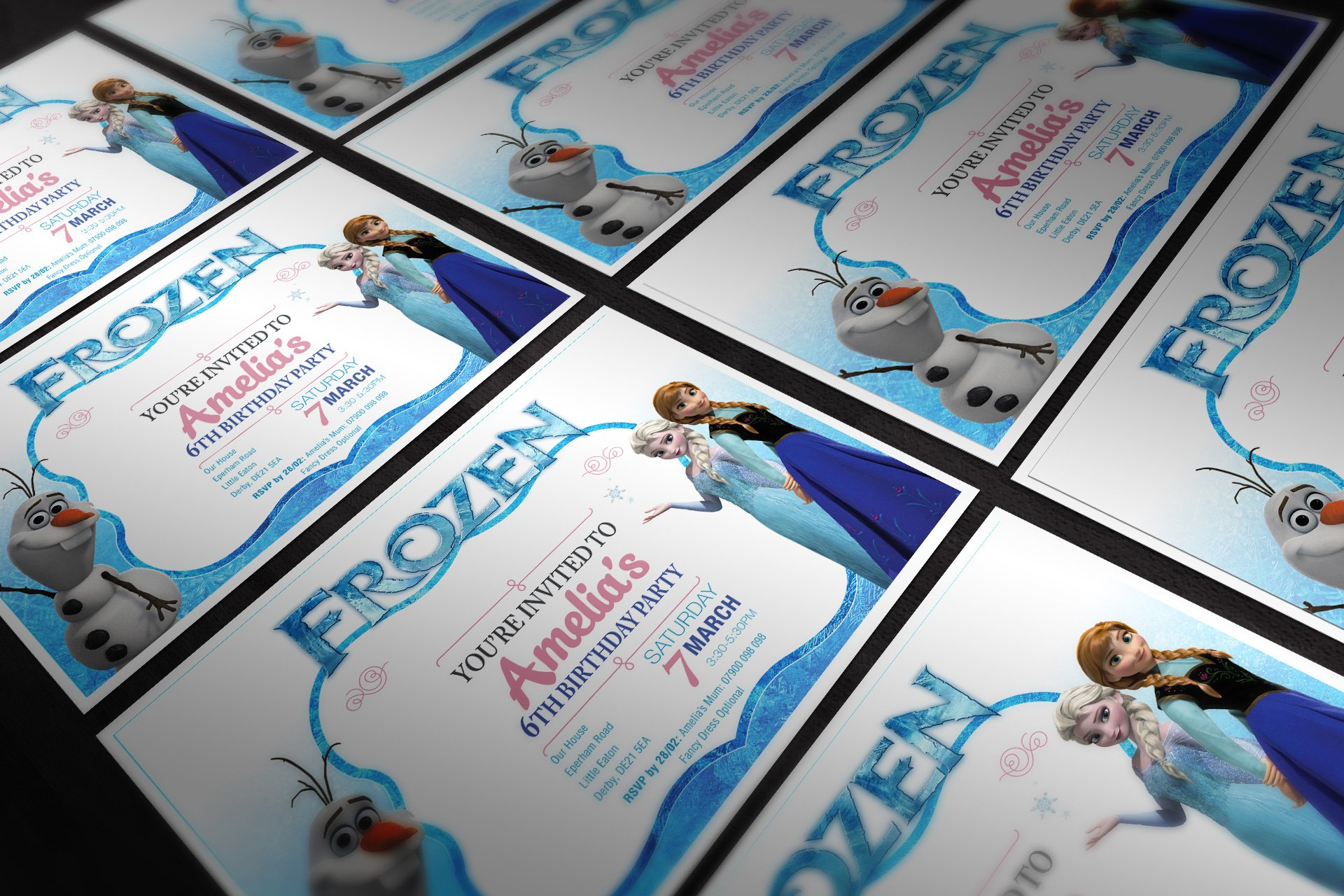 Frozen Blank Party Invite