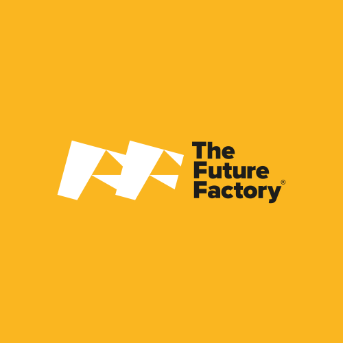 Future Factory Logo on Yellow