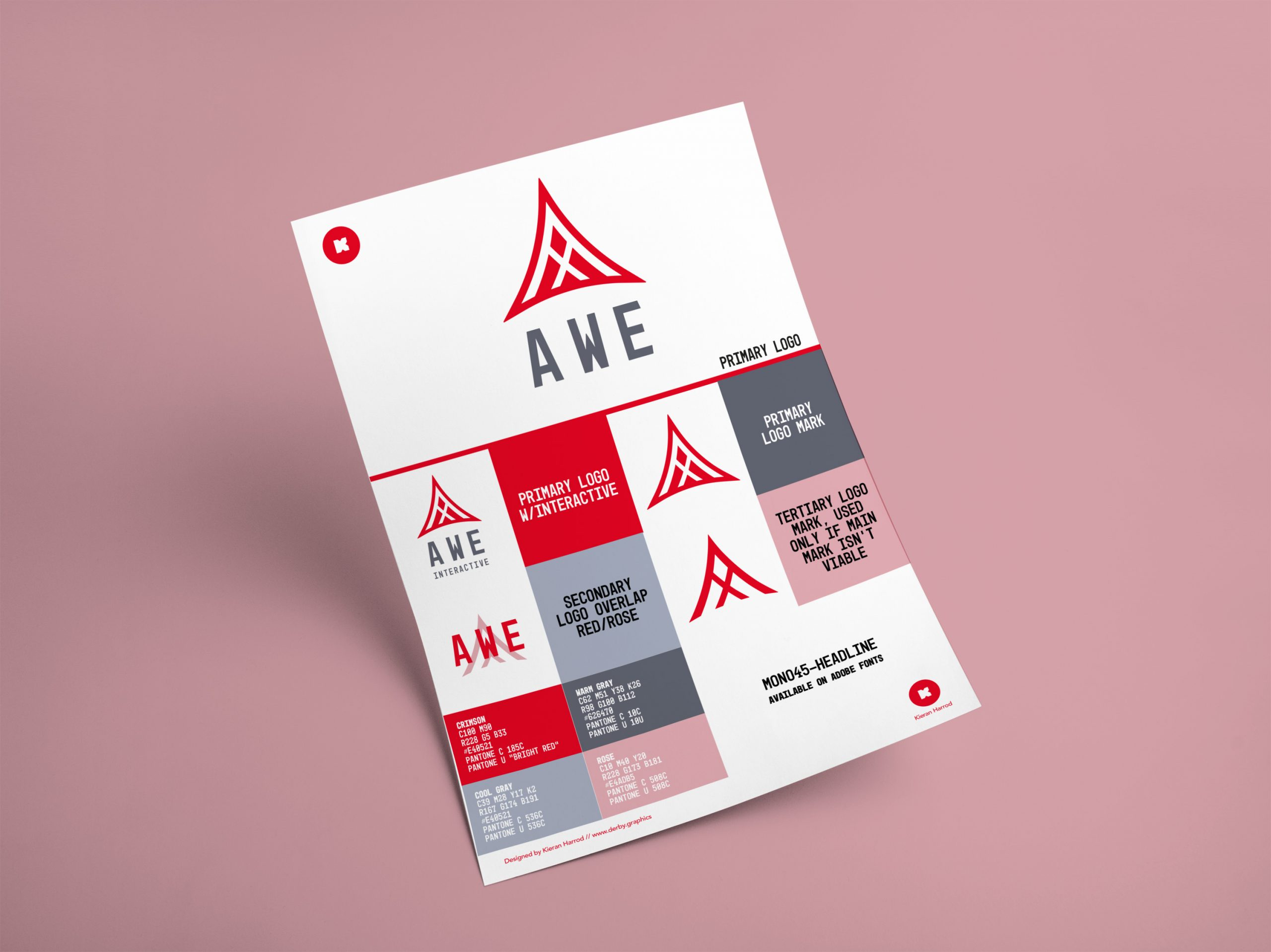 Awe Interactive Logo Coloursheet Mockup