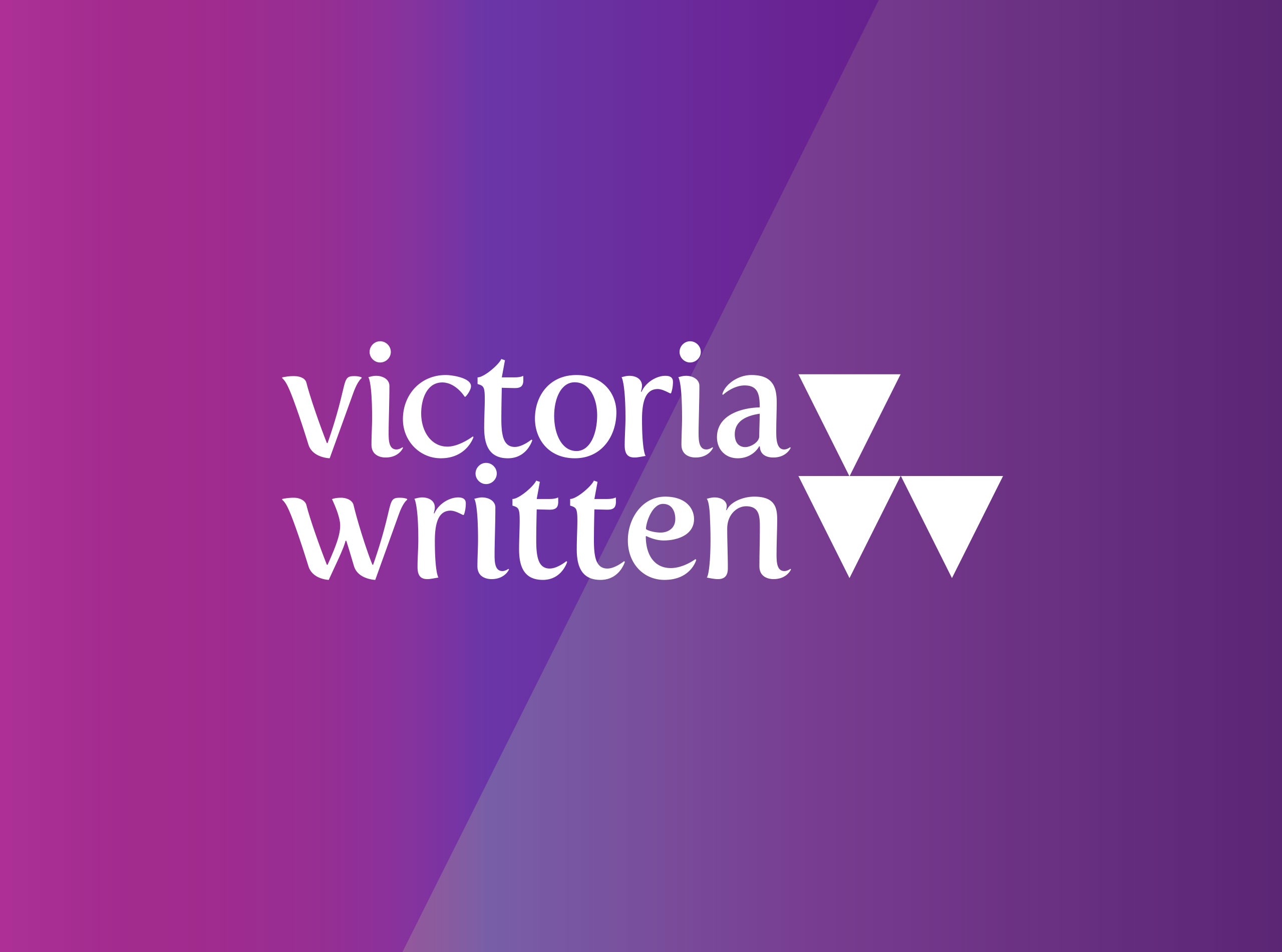 Victoria Written on Purple