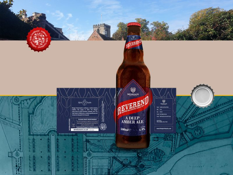 Reverend Beer Label Exploded
